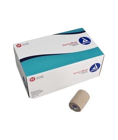 "Dynarex #3189 Sensi Wrap, Self-Adherent Bandage, Latex Free, 3"" x 5 Yards, Tan, 24 Rolls Per Case"