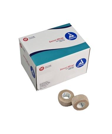 "Dynarex #3187 Sensi Wrap, Self-Adherent Bandage, Latex Free, 1"" x 5 Yards, Tan, 30 Rolls Per Case"