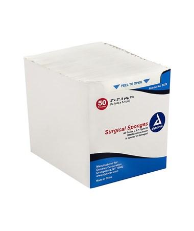 Dynarex #3322 Gauze Sponge, Sterile, 2 x 2, 8 Ply, 2/pouch