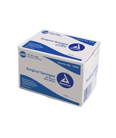 Dynarex #3342 Gauze Sponge, Sterile, 4 x 4, 8 Ply, 2/pouch