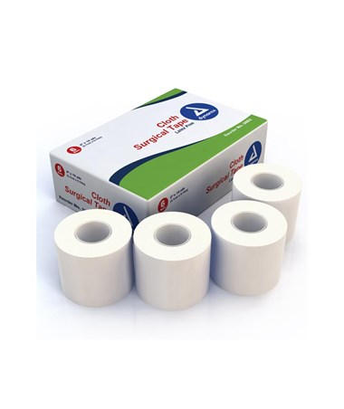 "Dynarex #3563 Surgical Tape, Cloth, 3"" x 10 Yds, 6 Rolls Per Box, 12 Boxes Per Case"
