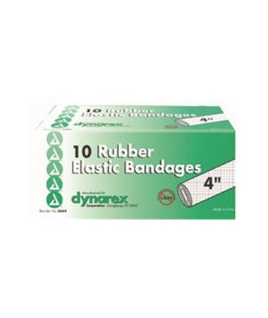 "Dynarex #3664 Elastic Bandage, 4"", Latex Free, 10 Bandages Per Box, 5 Boxes Per Case"
