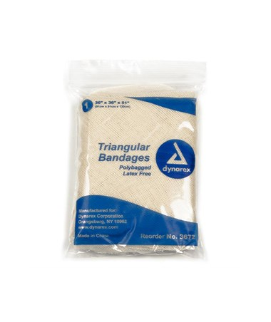 Dynarex #3672 Triangular Bandage 36 x 36 x 51, 12 Bandages Per Box