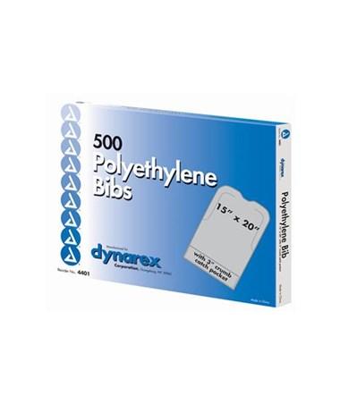 Poly Bib w/Pocket, 500 Per Box, 4 Boxes Per Case