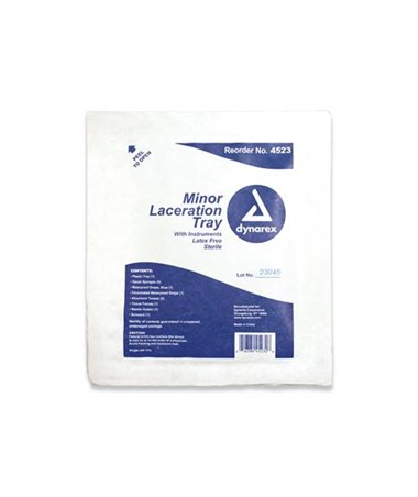 Minor Laceration Tray - Sterile DYN4523