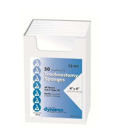Tracheostomy Sponge, Sterile DYN4612