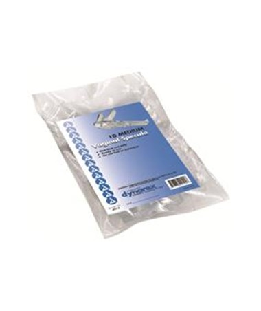 Dynarex #4912 Vaginal Specula, Disposable, Medium, 10 Per Bag, 10 Bags Per Case, Total of 100 Per Case