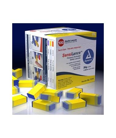 Dynarex #7114 SensiLance Safety Lancets, Pressure Activated, 26g, Sterile