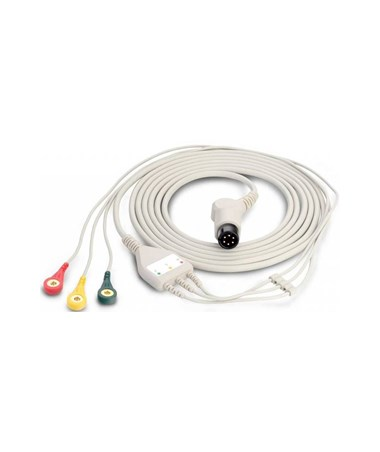 Fixed ECG Cable with 3 Lead Wires for Edan F6 Fetal Monitors EDA0157471007
