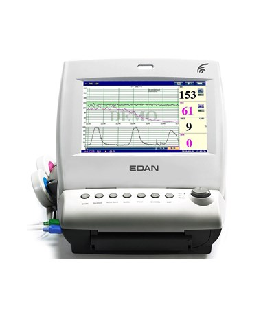 EDAF6Express Maternal Fetal Monitor with ECG, NIBP, SpO2 and Thermometry - Front View