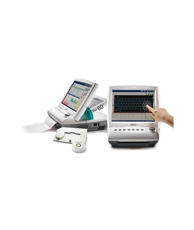 EDAF9Express Touch Screen Maternal Fetal Monitor with ECG, NIBP, SpO2 and Thermometry - Folding Touch Screen