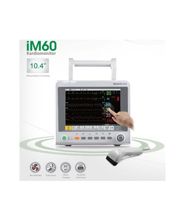 EDAiM60- Vital Signs Patient Monitor for Acute and Sub-Acute Cares - Touch Screen