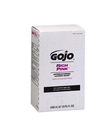 Gojo 7220-04 Gojo Rich Pink Antibacterial Lotion Soap Refill