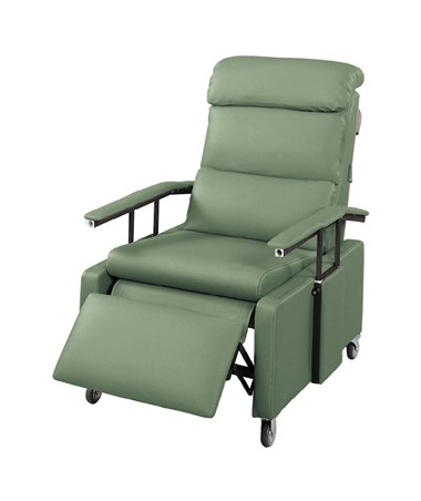 GRAFR3302427-Drop Arm 3 Position Recliner with Pillow Back - Jade Color