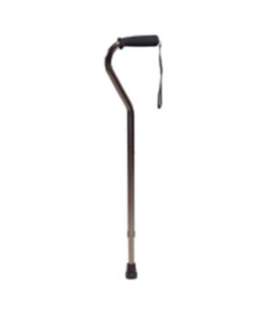 Offset Bronze Cane with Adjustable Nitrile Grip GRAGF5941-1