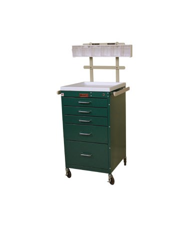 Harloff Mini Line Five Drawer Anesthesia Cart, Specialty Package