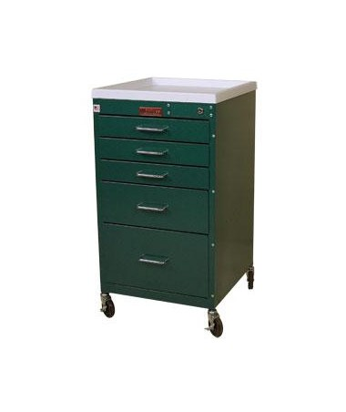 Mini Line Five Drawer Anesthesia Cart HAR3145K-