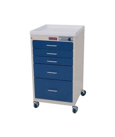 Mini Line Five Drawer Anesthesia Cart with Combination Lock HAR3145M-