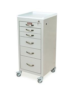 Mini Line Six Drawer Anesthesia Cart HAR3156K-