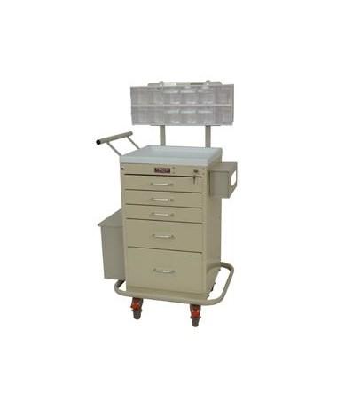 Harloff Mini Line Five Drawer Phlebotomy Cart Key Lock