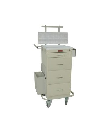 Harloff Mini Line Four Drawer Phlebotomy Cart Key Lock