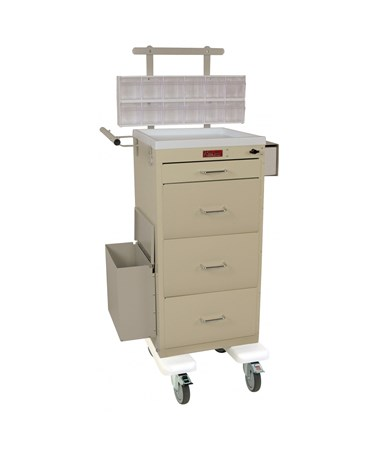 Mini Line Four Drawer Phlebotomy Cart HAR3254KPB-