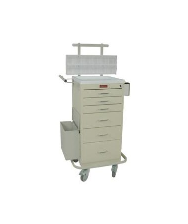Harloff Mini Line Six Drawer Phlebotomy Cart Key Lock