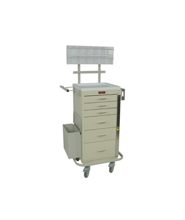 Harloff Mini Line Six Drawer Phlebotomy Cart Breakaway Lock