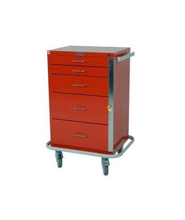 Harloff GP Line Five Drawer Emergency Cart Standard Package