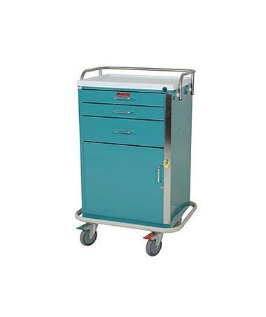 Harloff GP Line Three Drawer Emergency Cart Specialty Package