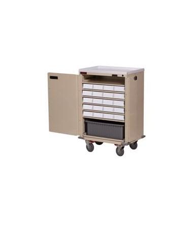Harloff Bin Treatment Cart with Locking Doors Standard Package