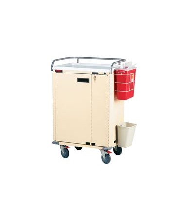 Harloff Bin Treatment Cart with Locking Doors Specialty Package