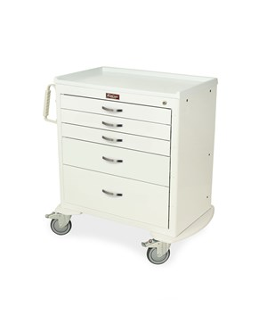 Classic Short Four Drawer Anesthesia Cart with Key Lock HAR6350-