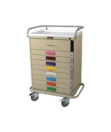 Harloff Classic Nine Drawer Pediatric Resuscitation Cart Standard Package