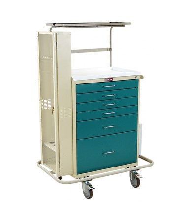Classic Tall Six Drawer Difficult Airway Anesthesia Cart with Key Lock HAR6457-