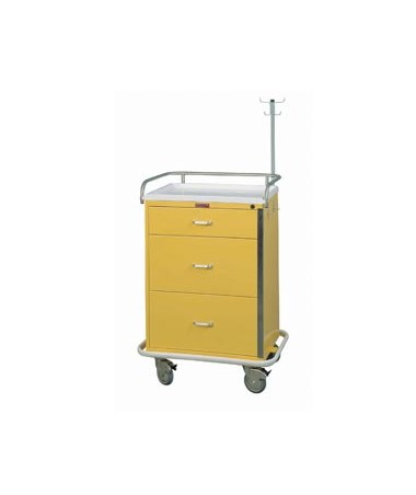 Harloff Classic Three Drawer Infection Control Cart with Breakaway Lock Specialty Package