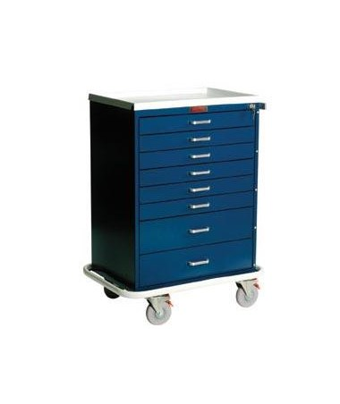 Harloff Classic Eight Drawer Workstation Cart Standard Package