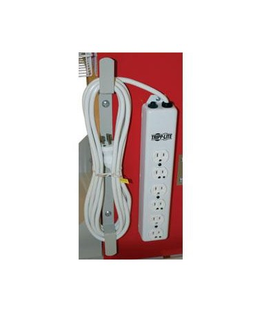 Harloff Cord Wrap for Hospital Grade 6 Socket Electrical Outlet (Outlet not included)