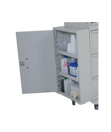 Locking Side Mounted Cabinet for Classic, E-Series and Medication Carts HAR680470L-