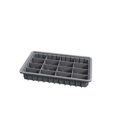 "Harloff 3"" Economy Exchange Tray with Adjustable Dividers"