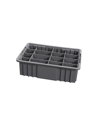 "Harloff 6"" Economy Exchange Tray with Adjustable Dividers"