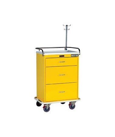 Harloff Classic Three Drawer Infection Control Cart with Keyless Entry Specialty Package