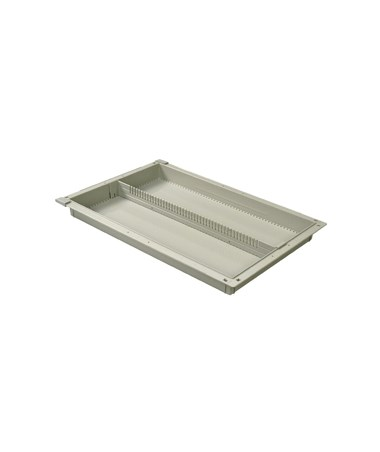 "Harloff 2"" Exchange Tray with 1 Long Divider for Mobile Medical Storage"