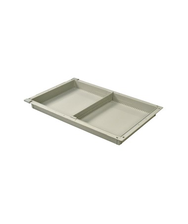 "Harloff 2"" Exchange Tray with 1 Short Divider for Mobile Medical Storage"