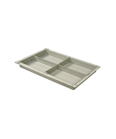 "Harloff 2"" Exchange Tray with 1 Long Divider and 1 Short Divider for Mobile Medical Storage"