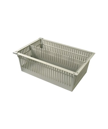 "Harloff 8"" Exchange Tray with 1 Long Divider for Mobile Medical Storage"