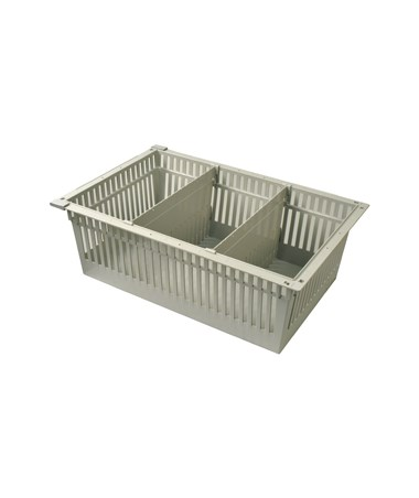 "Harloff 8"" Exchange Tray with 2 Short Dividers for Mobile Medical Storage"