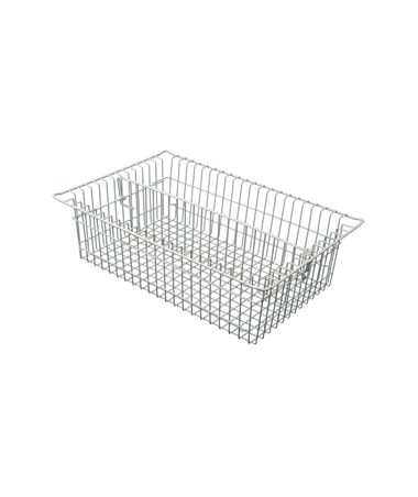 "Harloff 7"" Wired Basket with Long Divider for Mobile Medical Storage"
