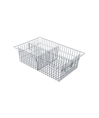 "Harloff 7"" Wired Basket with Long Divider and Short Divider for Mobile Medical Storage"