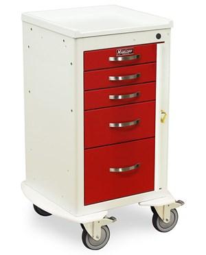 Mini Line Aluminum Five Drawer Emergency Cart HARAL3245B-